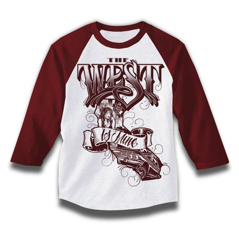 Image of the west Is Mine (raglan 3/4 sleeve)
