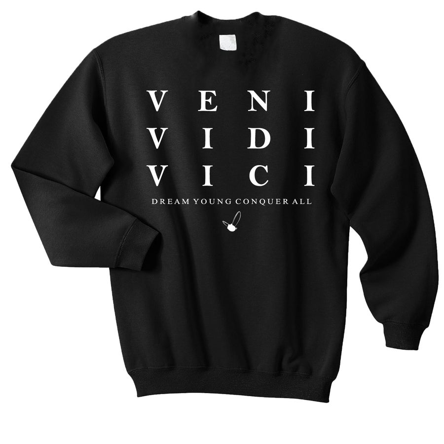 "Image of ""VENI VIDI VICI"" BLACK/CREW NECK"
