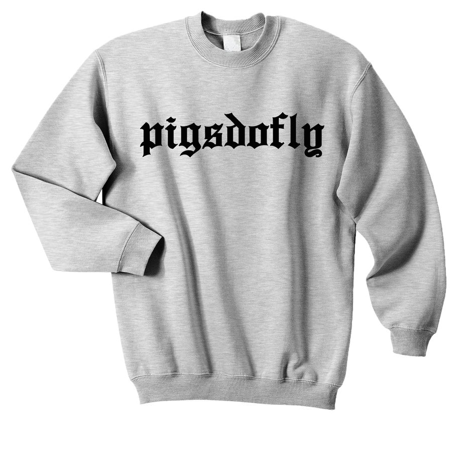 "Image of ""O.E. PIGSDOFLY"" SPORTS GREY/ CREW NECK"