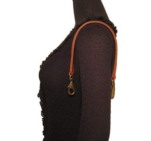 "Image of Top Handle or Hobo-style Leather Strap - Choose Color & Finish - 20"" Length, 1"" Wide, Large O-Rings"