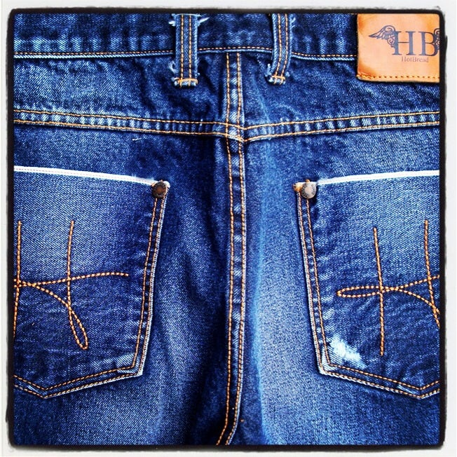 Image of HotBread signature H washed denim jeans