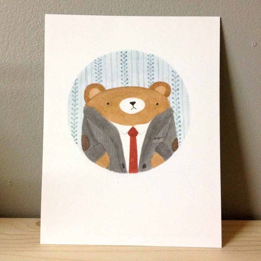 Image of bear portrait #1 postcard