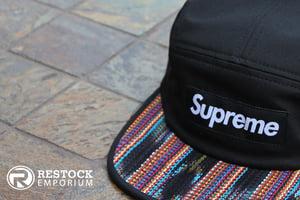 Image of Supreme – Black Guatemala Camp Cap