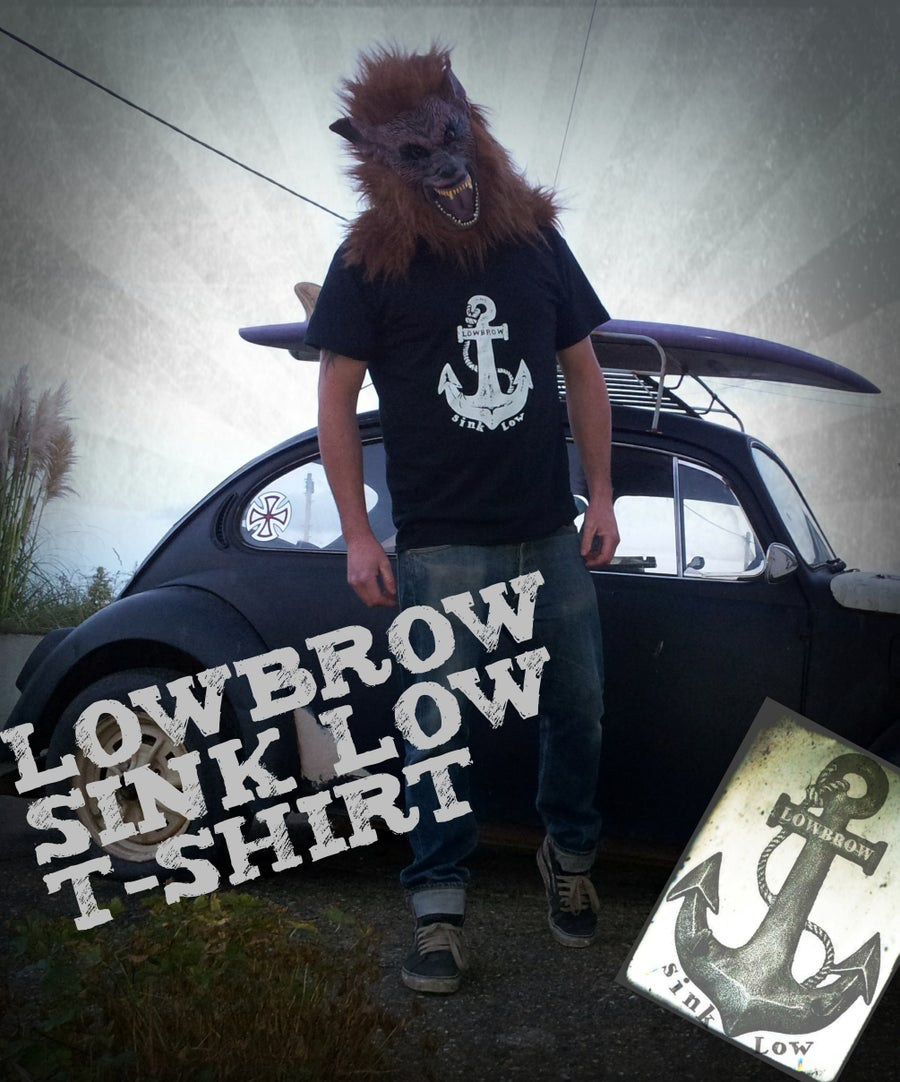 Image of sink low, lowbrow anchor t-shirt