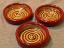 Image 2 of Dipping Dishes, Red/Brown, set of 4