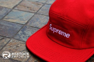 Image of Supreme - Red Canvas Camp Cap