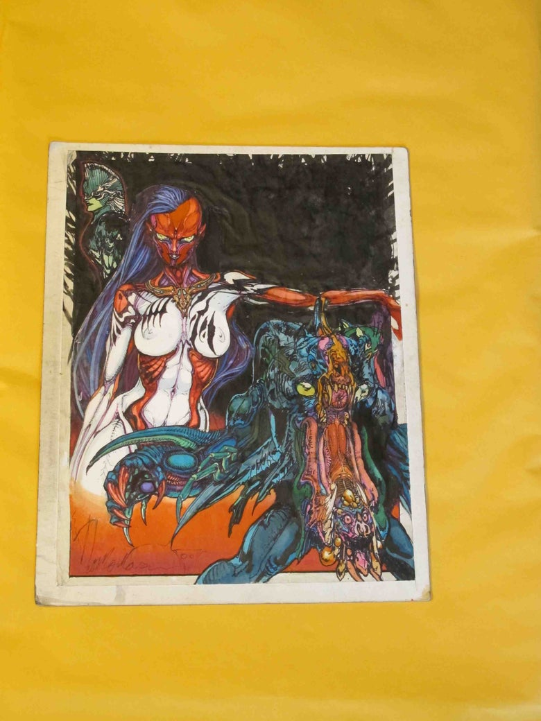Image of Original Paul Komoda Creature & Woman