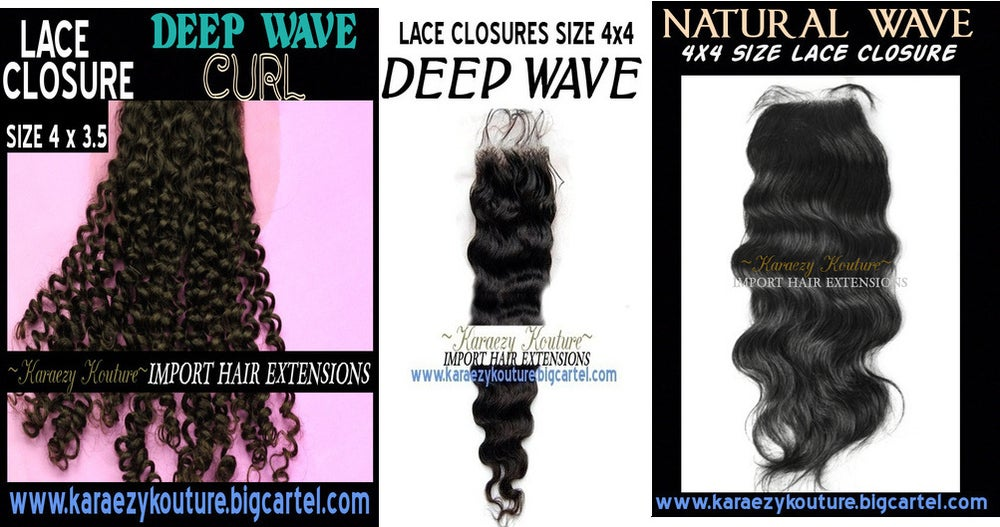Image of JUST LACE CLOSURES (Natural Wave & Deep Wave Curl)