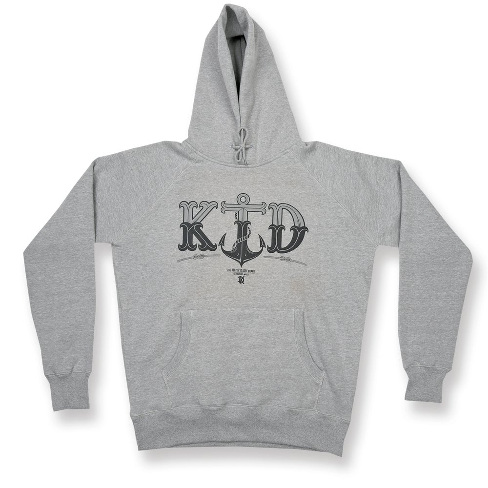 Image of Anchor - Light Heather Grey Hooded Sweatshirt - 50% OFF!