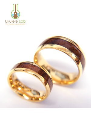 Image of Koa Inlaid Rings