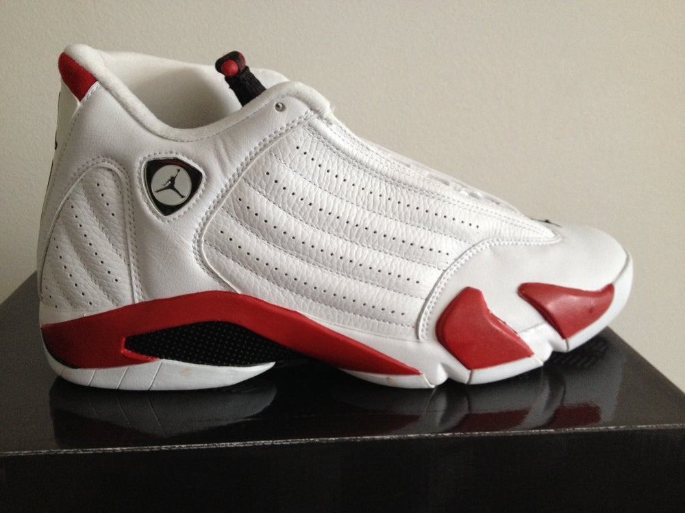 c6a3accc82e Image of Jordan 14 White Red 2005 ...