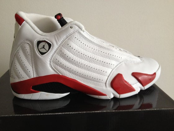 47a34439610 Image of Jordan 14 White Red 2005
