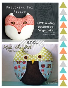 Image of Max the Owl and Philomena Fox PDF Sewing Pattern