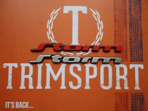 Image of Trimsport VW Corrado Storm Rear Badge - Half Size