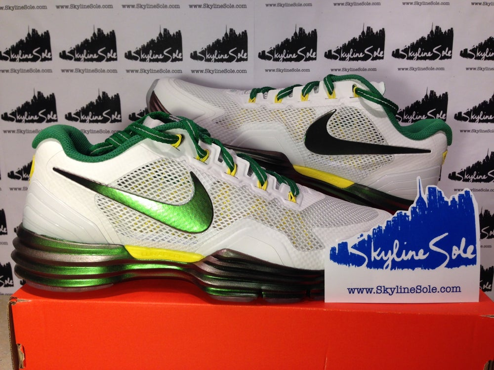 "Image of Nike Lunar TR1 Rivalry ""Oregon"" in white"