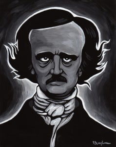 "Image of Edgar Allan Poe - Limited Edition Signed Giclee Print, 8""X10"""