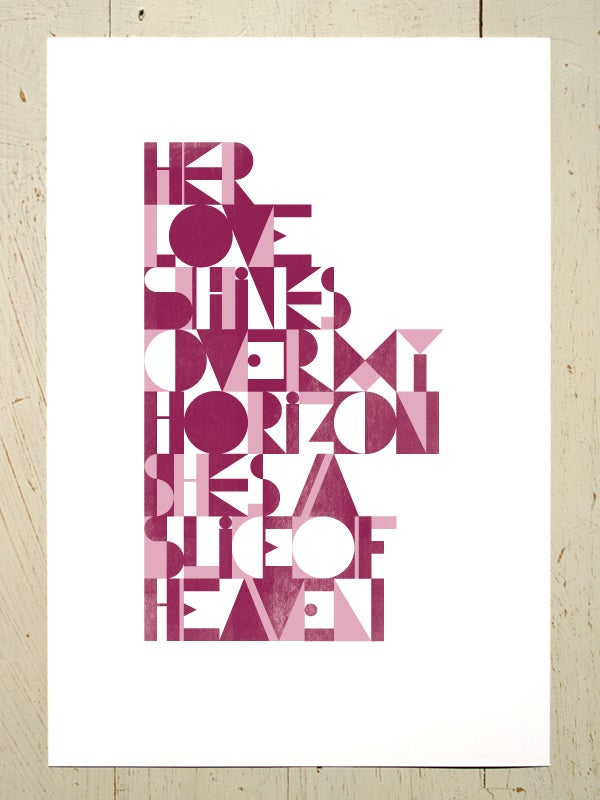 Image of Slice of Heaven art print - Pinks
