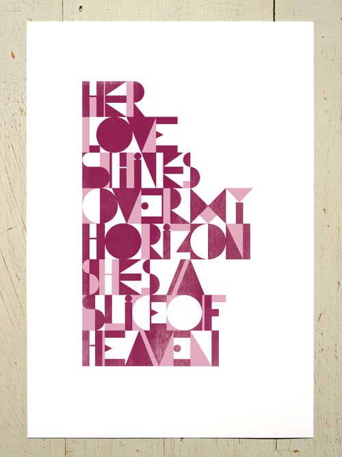 Image of Slice of Heaven - A4 art prints
