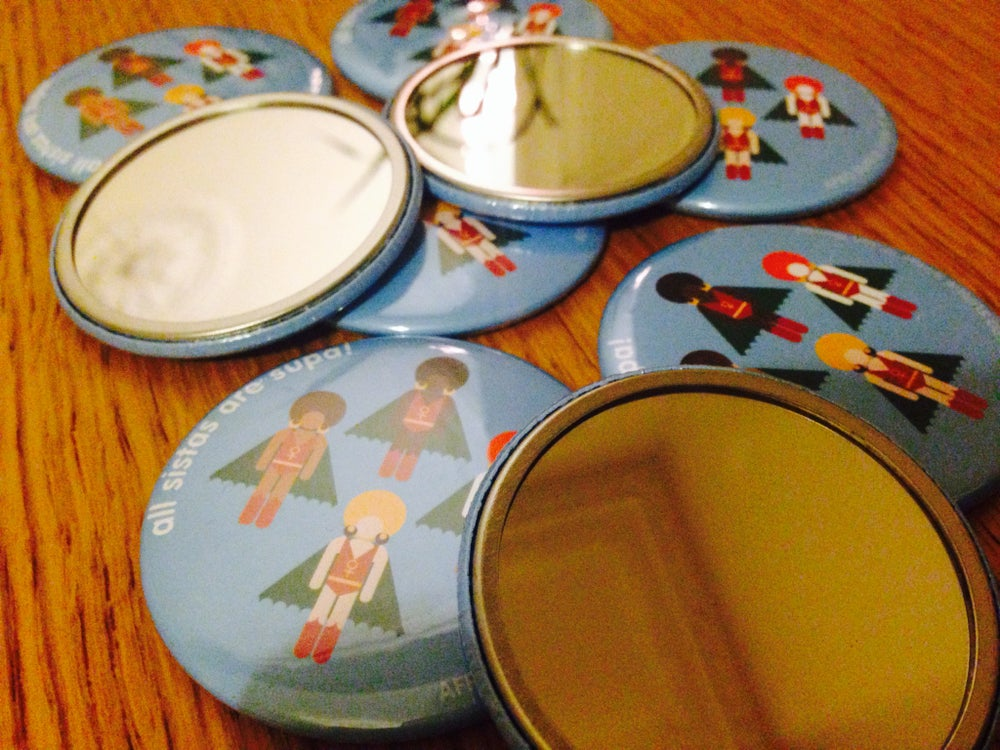 Image of AFRO SUPA® SISTAS POCKET MIRROR