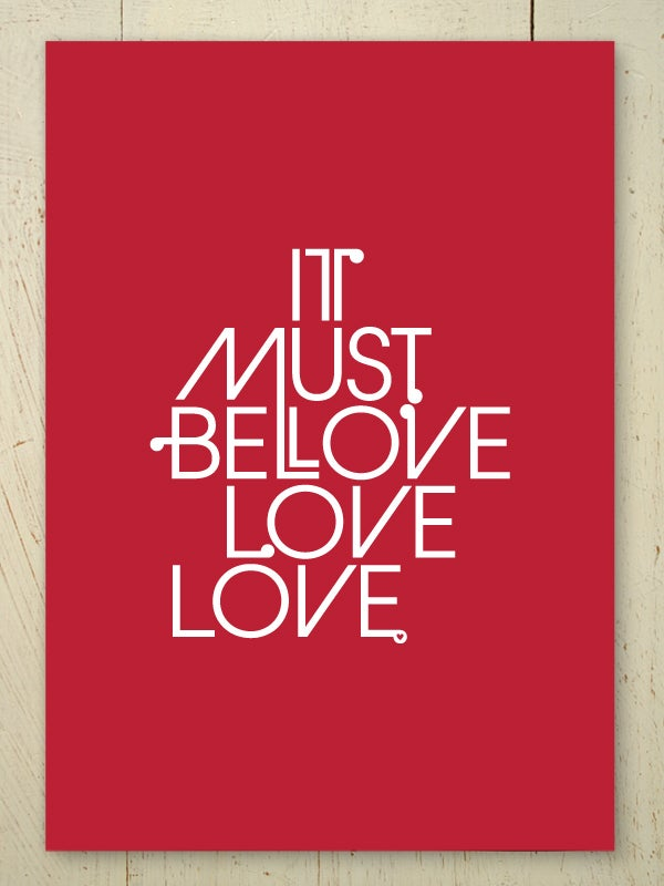 Image of It Must Be Love A4 art print