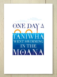 Image of One Day A Taniwha art print