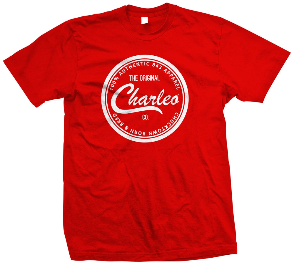 Image of The Original Charleo Seal Tee  Red/White