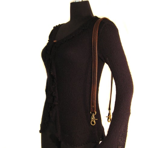 "Image of Short Crossbody / Long Shoulder Strap - Choose Leather Color - 40"" Length, 1"" Wide, #2 Swivel Hooks"