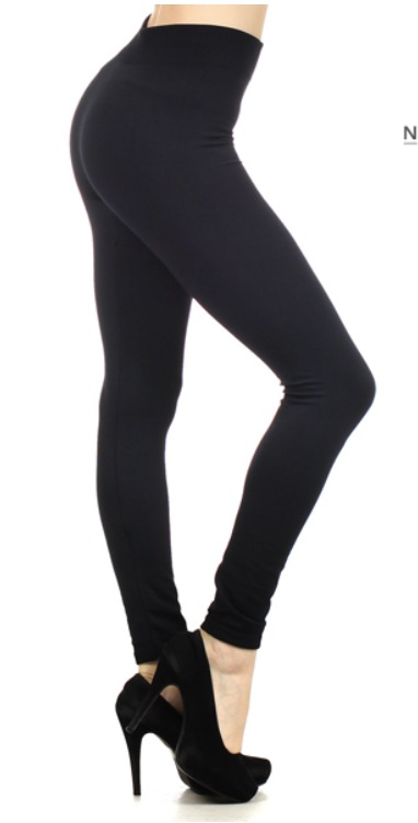 Image of Black Fleece leggings