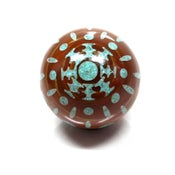 Image of Sun Burst Turquoise Inlay Marble