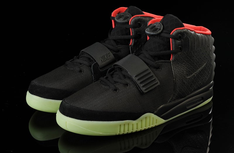 Image of Nike Air Yeezy 2 NRG Black/Solar-Red