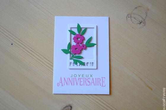"""Image of Carte d'Anniversaire """"Joyeux Anniversaire"""" Fleurie"""