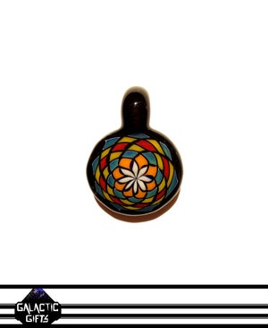 Image of Zach Strasburg Orange, Blue, Red & Acid Yellow Fillacello Pendant