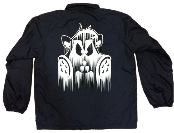 Image of Dripped Coach Jacket | BLACK