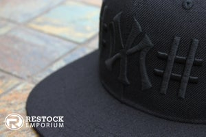"Image of 40oz NY x BEEN TRILL ""NY"" Snapback ~ {Black/Black} ~ KITH Exclusive"