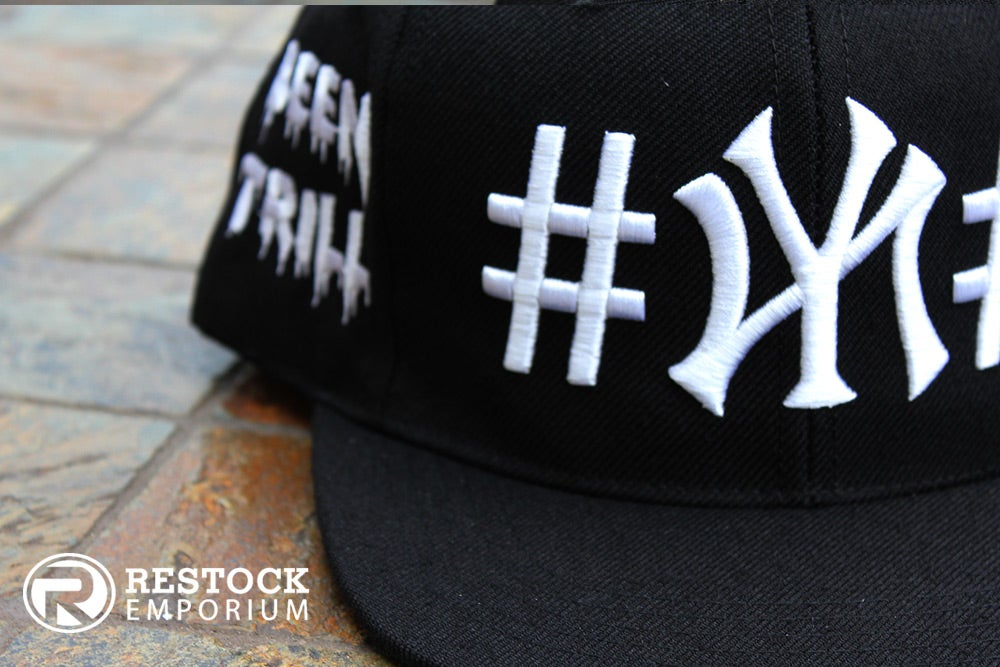 "Image of 40oz NY x BEEN TRILL ""NY"" Snapback ~ {Black/White} ~ KITH Exclusive"