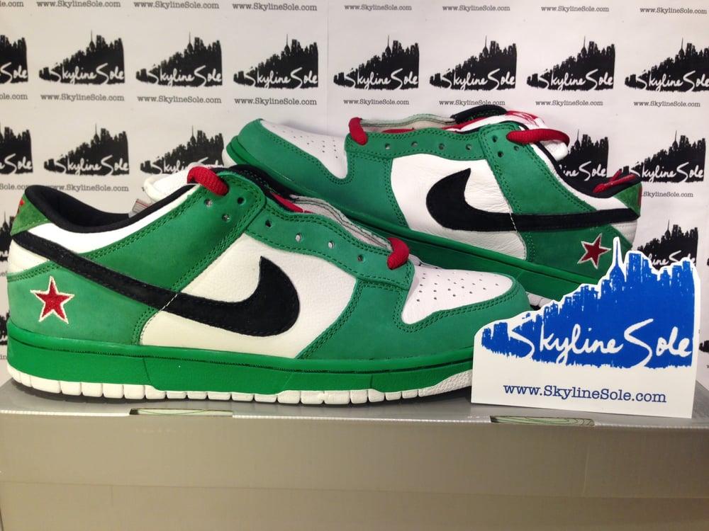 "Image of Nike SB Dunk lo pro ""Heineken"""