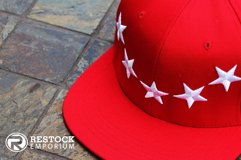78baf0923e4 Image of 40 Oz ~ Givenchy ~ Inspired Stars Hat ~  Red White