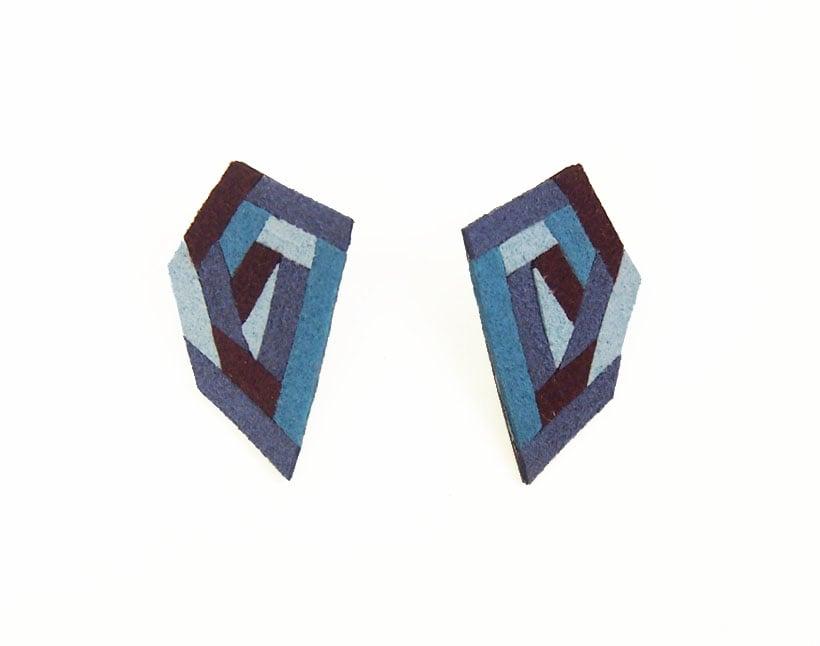 Image of Stud Earrings - blue