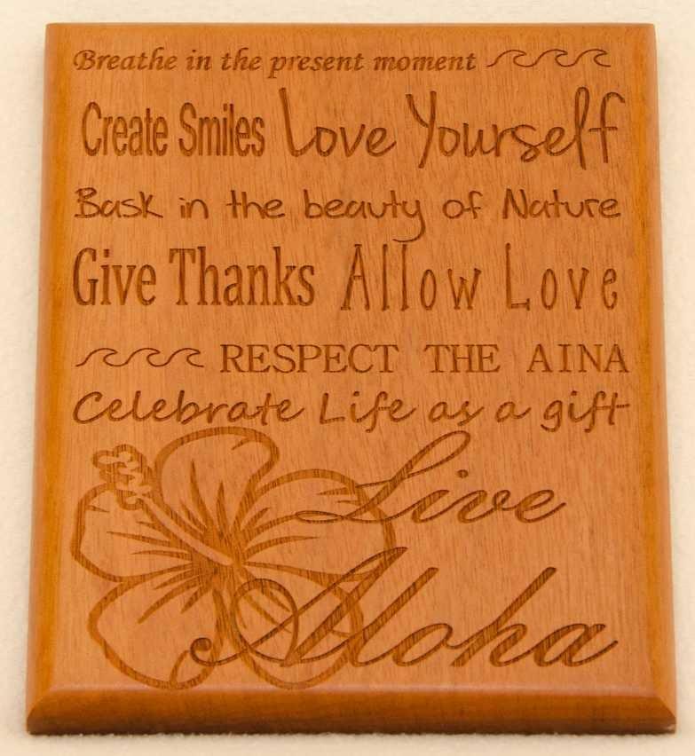 Image of Live Aloha Multi phrase plaque