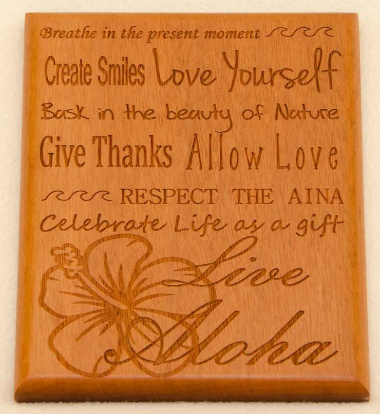 Image of Live Aloha Multi phrase plaque