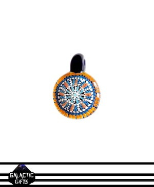 Image of Zach Strasburg Orange & Blue Geometric Dot Work Pendant
