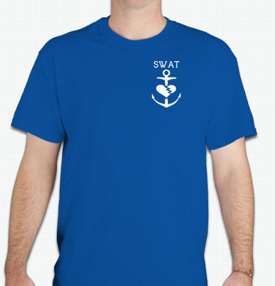 Image of SWAT Anchor Tee (Unisex Blue)