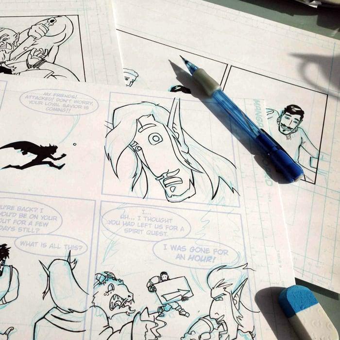Image of Original Comic Art - Webcomic of Your Choice