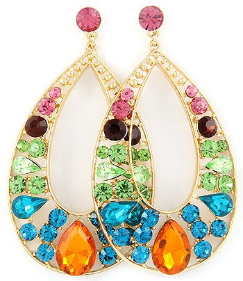 Image of POST EARRING RHINESTONE EARRING SET