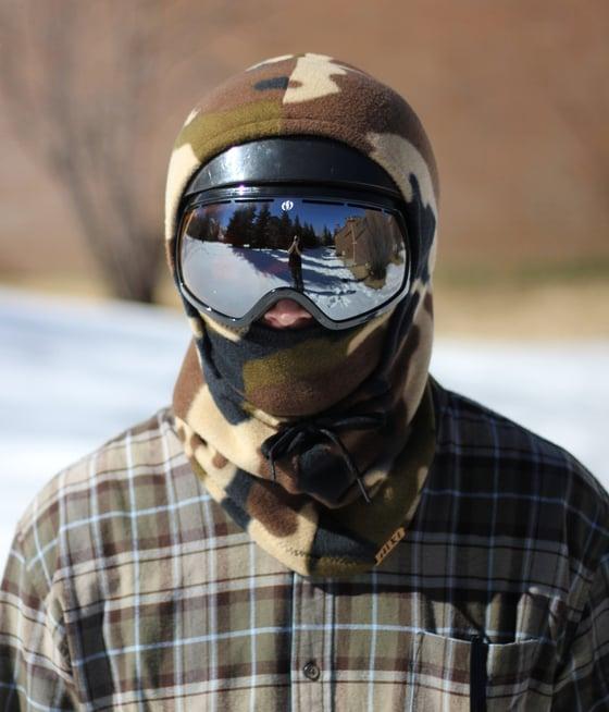Image of Olive Camo Helmet Hood