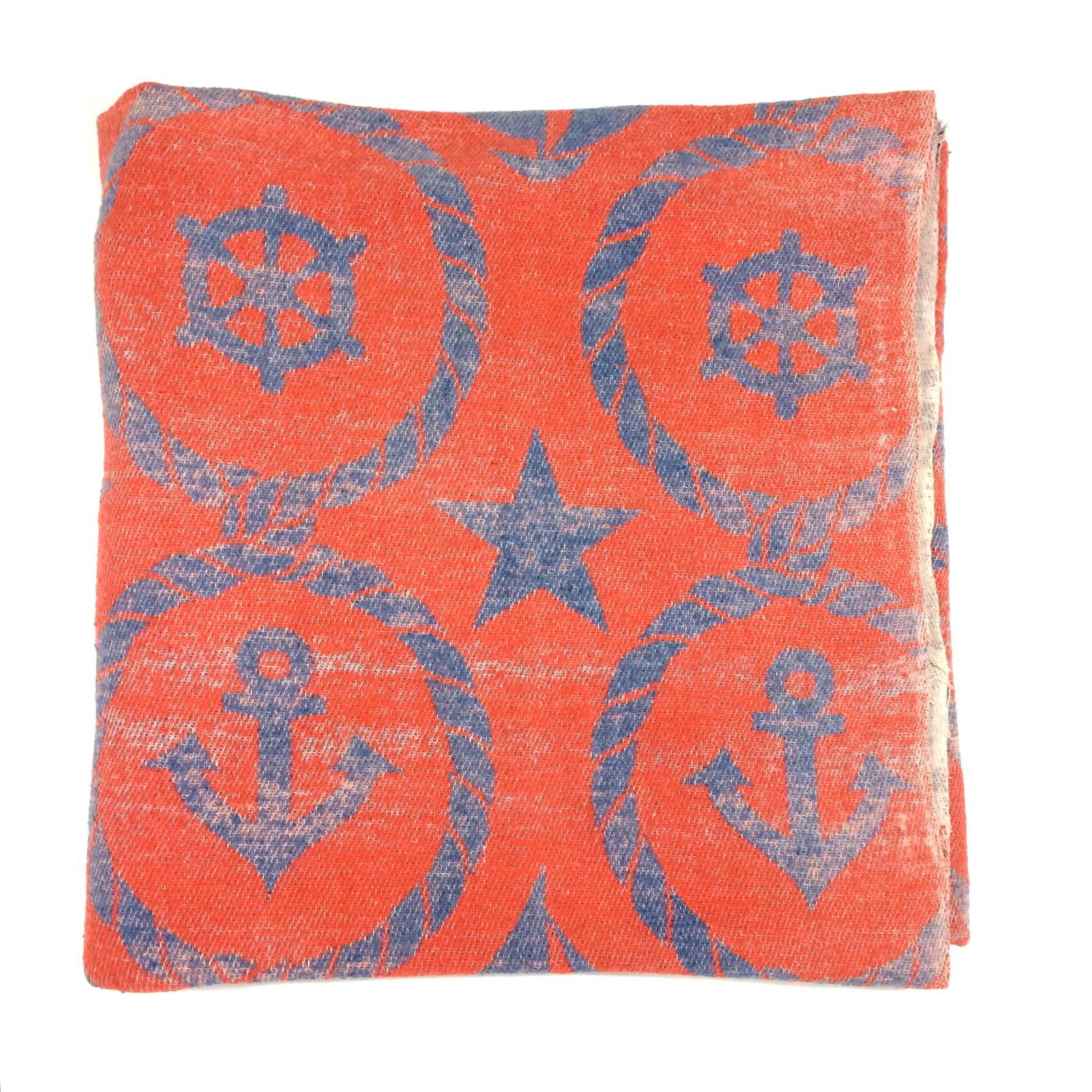 Image of vintage beacon blanket nautical style