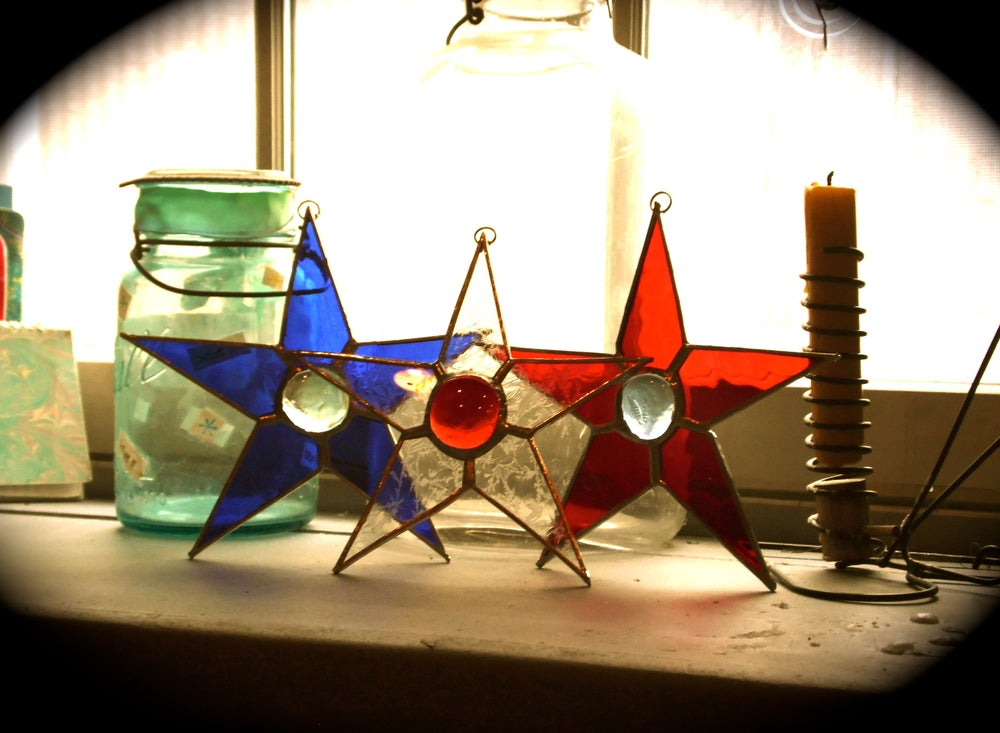Image of 4th of July Set- stained glass
