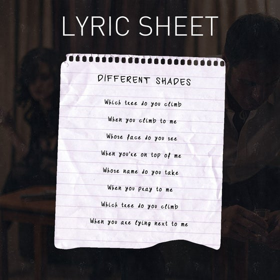 Image of Handwritten Lyric Sheet
