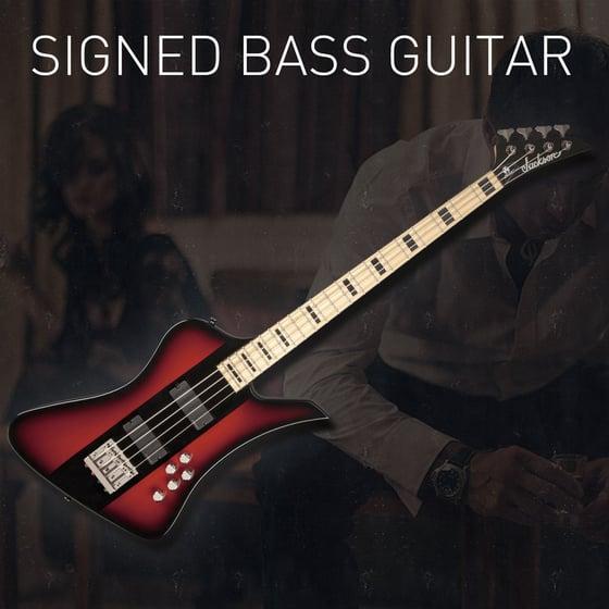 Image of Signed Jackson David Ellefson Signature Kelly Bird Bass