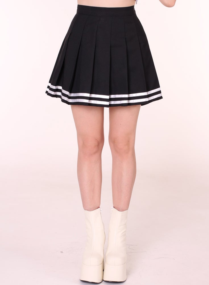 Image of Ready To Post - Black Cheerleading Skirt